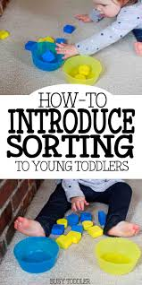 introducing sorting teaching young toddlers learning