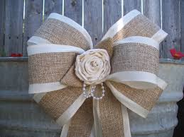 pew bows for wedding burlap satin bows wedding aisle decor onefunday dma homes 78653