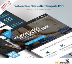 Email Blast Templates Free by Fashion Sale Newsletter Free Template Psd Psdfreebies Com