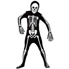 skinz glow in the dark skeleton kids costume from a2z kids uk