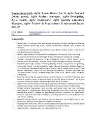 Scrum Master Sample Resume by Kwaku Ampomah Agile Scrum Consultant Cv 1