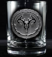 rocks glass engraved deer skull rocks glasses set of 2 home food u0026 drink