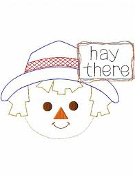 hay there scarecrow boy shabby chic applique embroidery design