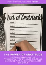 the power of gratitude thanksgiving lesson plans middle school
