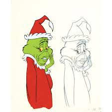 grinch writing paper original production cel and matching drawing from how the grinch original production cel and matching drawing from how the grinch stole christmas