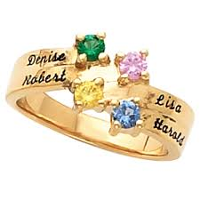 mothers day birthstone jewelry birthstone mothers ring with names of children holds up to 4
