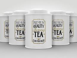 Round Luxury Tea Tin Cans Packaging Mock Ups by ina717
