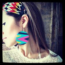 hip earrings 13 best painted earrings images on painted