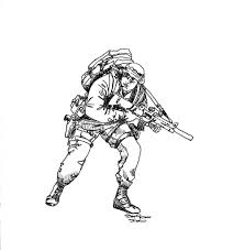 how to draw a army soldier pencil art drawing