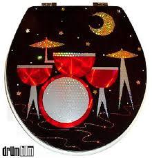 drum bum miscell housewares drumset toilet seat drums toilet