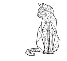 tattoo geometric outline cat geometric black and white tattoo life as magic pinterest