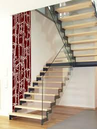 wandgestaltung treppenaufgang wandtattoo im treppenhaus auf treppe wand co