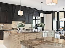 Designer Kitchens Magazine by Contemporary Cream Kitchen With Geometric Pendants Luxesource