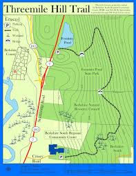 Riverside State Park Trail Map by Threemile Hill Trail At Fountain Pond Great Barrington Land