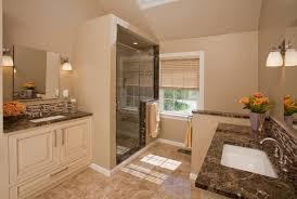 exclusive master bathroom design with cherry wood bathroom vanity