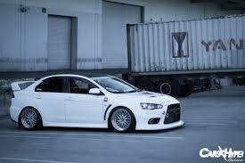 mitsubishi evo slammed carshype com shut up and take my money chris u0027 evo x