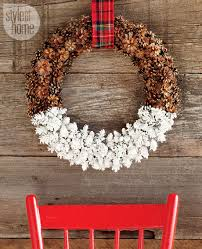 pinecone wreath diy project dipped pine cone wreath style at home