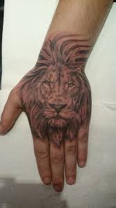 lion face hand tattoos the best lion in 2017