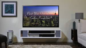wall mounted tv stand with shelves ryan house ideas lcd cabinets