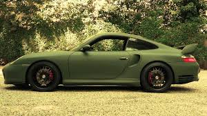 porsche dark green porsche 996 turbo matte army green wrap youtube