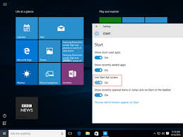 Windows 7 Bar At Top Of Screen Tips And Tricks For The Windows 10 Start Menu Bt