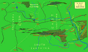 The Shire Map Www Tolkien Maps Com