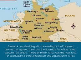 Scramble For Africa Map by Otto Von Bismarck By Joshua Liska