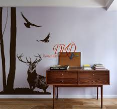 tree and birds decal moose deer decal tree wall decal large