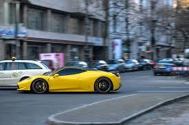 Ferrari 458 Black - yellow and black novitec tuned ferrari 458 italia at speed autos