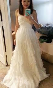 wedding dress j crew j crew j crew waterfall gown 500 size 2 used wedding dresses