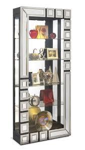 Curio Cabinets Richmond Va Aries Contemporary Mirrored Curio Cabinet By Philip Reinisch