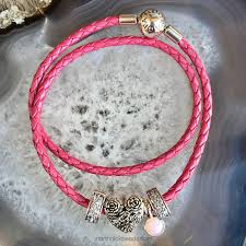 pink leather necklace images Pandora opalescent pink crystal marthnickbeads jpg