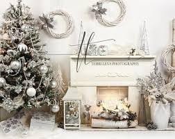 rustic christmas backdrop on glare free vinyl 7 u0027 wide by