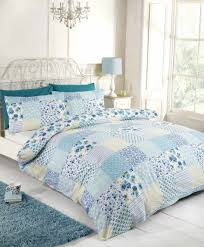 elsa teal patchwork duvet cover sets available in single double