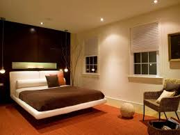 recessed lighting in bedroom modern bedroom furnished with floating bed and illuminated with