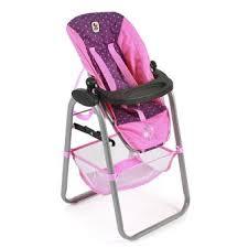 chaise haute poup e chaise haute pour poupée jusqu à 50 cm accessoire mobilier poupon