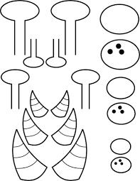 printable monster horns 1 free kids crafts