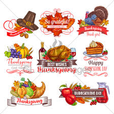 icons for thanksgiving day gl stock images