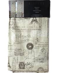 Eiffel Tower Window Curtains by Envogue French Paris Script 2 Window Panel Curtains Eiffel Tower