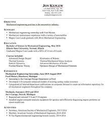 Sample Resume For Ojt Mechanical by Sample Engineering Internship Resume Join The Redditresume
