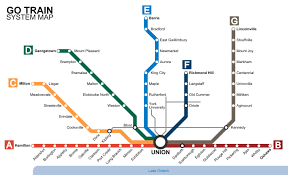 Chicago Trains Map by Go Train Route Map Go Transit Map Toronto Canada