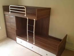 bedroom modern wooden loft bed frame storage drawer plus shelves