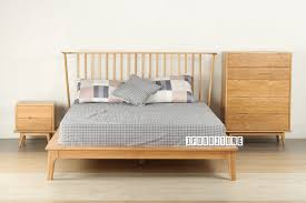 helsinki solid oak queen size bed bedroom nz u0027s largest