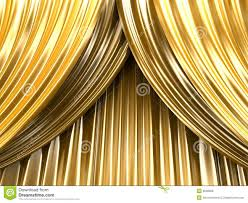 Gold Curtain Gold Theater Curtain Royalty Free Stock Photos Image 9528098