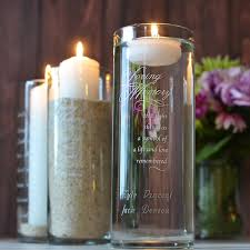 memorial candle in loving memory personalized glass memorial candle holder