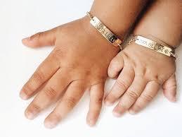 baby gold bracelet with name gold baby bracelet small child bracelet name by madebymaryshop