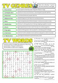 esl printable word games for adults tv genres and words worksheet free esl printable worksheets made