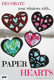 paper heart window decorations yummymummyclub ca