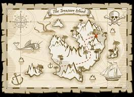 Treasure Island Map Treasure Pirate Hand Drawn Vector Map Pirate Map With Ship And