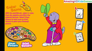 barney u0026 friends color game walkthrough gameplay part 1 coloring